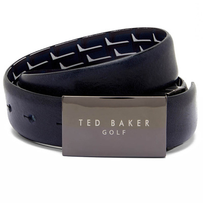 Ted Baker Golf Belt Holeone Reversbile Leather Navy SS17