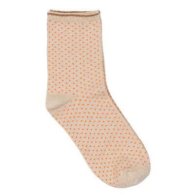 Dina Small Dots Socks - Mandarin Red
