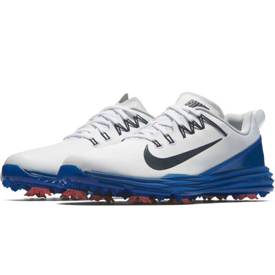Nike Golf Shoes - Lunar Command 2 - White - Blue Jay 2017
