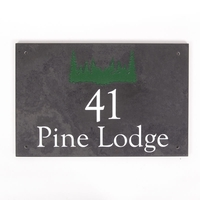 Smooth Slate Holiday Home Sign 30.5 x 20cm 2 line