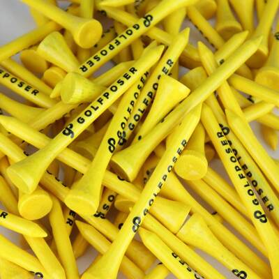 Golfposer GP Golf Tees Citron Yellow Pack of 50