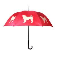 Pug Walking Stick Style Umbrella