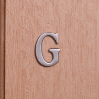 Self Adhesive 40mm Aluminium Letter G
