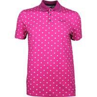 Ted Baker Golf Shirt - Gulf Print Polo - Fuchsia SS18