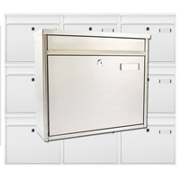 Multiple Ouse Stainless Steel Mailboxes for Communal Areas