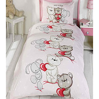 Teddy Bear Love Single Bedding
