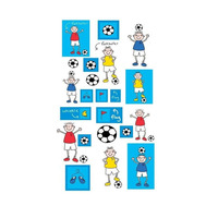 Footballers,Kids Wall Stickers - 44