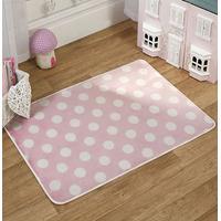 Pink Polka Dot Lightweight Mat 100 x 70 cm