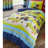 Diggers and Trucks, Boys Single Bedding
