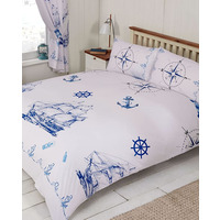 Ships and Anchors, Nautical Super King Size Duvet