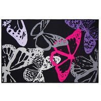 Flair Matrix Butterfly Black Rug 100 x 160 cm