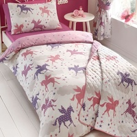 Unicorns and Stars, Girls Single Bedding Set