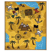 Treasure Hunt Rug 100 x 130 cm