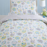 Teddy and Friends Toddler / Junior Bedding Bundle 4.5 Tog 120cm x 150cm