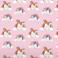 Unicorns and Rainbows Wallpaper - Pink
