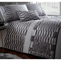Murray, Grey Crushed Velvet Super King Size Bedding
