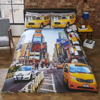 New York, Times Square King Size Bedding