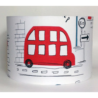Red Bus, Transport Large Fabric Light Shade