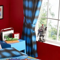 Blue Spots Curtains 54s