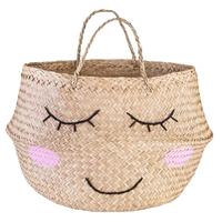 Sweet Dreams Seagrass Storage Basket