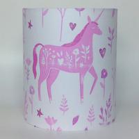 Folk Unicorn, Medium Fabric Light Shade