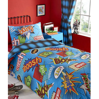 Kapow, Comic Book, Kids Single Bedding Sets