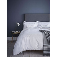 Catherine Lansfield Pom Pom Embellished Single Duvet Set White