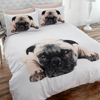 Pug Super King Size Bedding Set