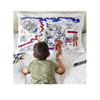 Doodle Space Explorer Pillowcase - 100% Cotton