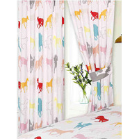Horse White Curtains