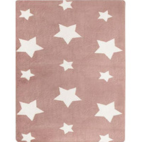 Candy Floss Pink Twinkle Star Super Soft Kids Rug 90 x 150 cm