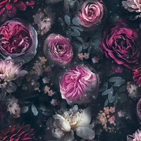 Dark Magic, Floral Sparkle Wallpaper from Arthouse