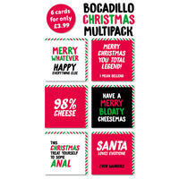 Bocadillo Christmas Cards Pack of 10 Multipack