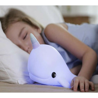 Narwhal Princess, Kids Colour Changing LED Night Light