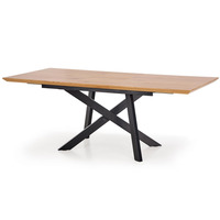 Carriba Golden Oak Extending Dining Table 160cm - 200cm
