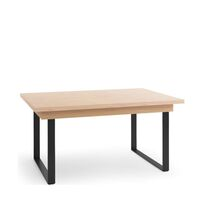 Grantham 160cm-220cm Oak And Black Extending Table