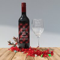 Merry Christmas Red Wine Gift Set