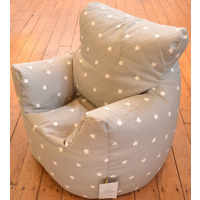 Grey and White Stars Kids Bean Chair
