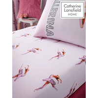 Catherine Lansfield Ballerina Double Fitted Sheet Pink