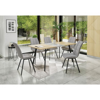Albatron 120cm Sonoma Oak And Grey Concrete Extending Table