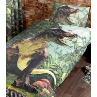 Dinosaur Bedding. T Rex Photographic Single