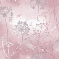 Arthouse Damselfly Wallpaper - Blush