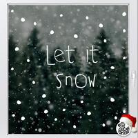 Let It Snow Christmas Window Decal - Read from the inside