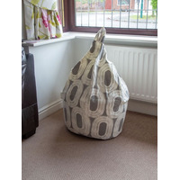 Grey and White Circles Bean Bag