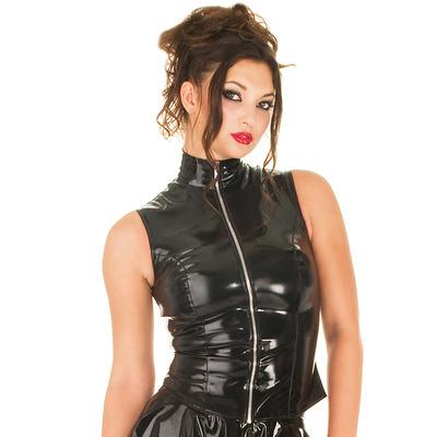 Sleeveless Mistress PVC Top