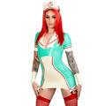 Latex Rubber Natasha Nurse Dress  Cap
