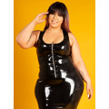 Latex Rubber Zip Vest Top - Plus Size