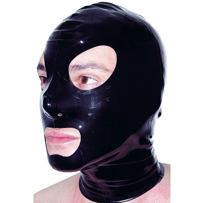 Latex Rubber Hood with Eyes Nose and Mouth Holes