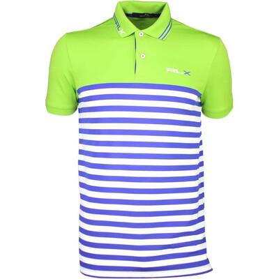 RLX Golf Shirt Stripe Tech Pique Island Lime SS16