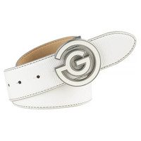 Galvin Green Golf Belt - WESLEY Leather - White AW17